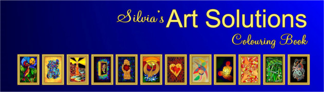 Silvia's Art Solutions Colouring Book For Adults - Click Here To order