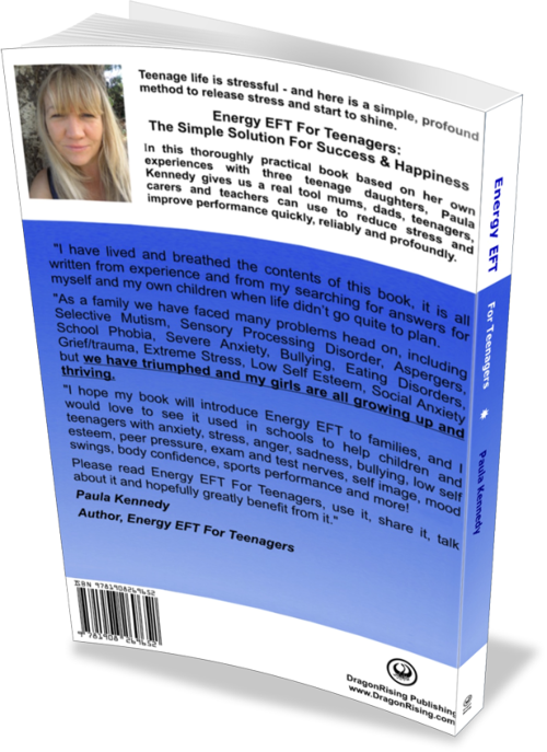 Energy EFT For Teenagers by Paula Kennedy - Back Cover